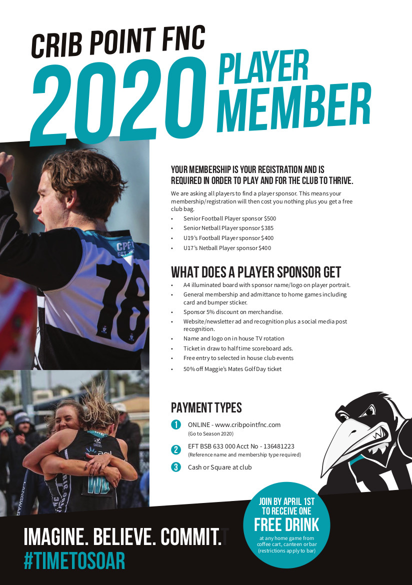 CPFNC Player Membership Flyer 2020 PRINT Front