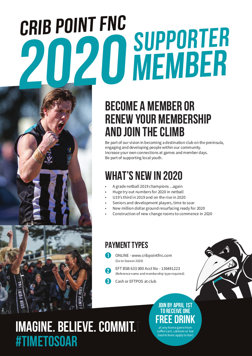 CPFNC Supporter Membership Flyer 2020 V5 Front